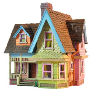 Victorian dollhouse from Disney/Pixar movie Up