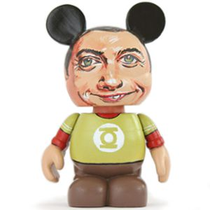 Sheldon Lee Cooper from The Big Bang Theory custom toy, Jim Parson portrait, caricature, Disney Vinylmation vinyl toy, dunny kidrobot