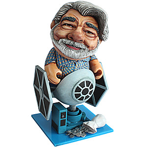 George Lucas custom vinyl toy