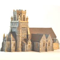 Irish Church N-scale for model railroad
